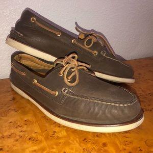 Men SPERRY GOLD CUP Lambskin Boat Shoes 10.5W
